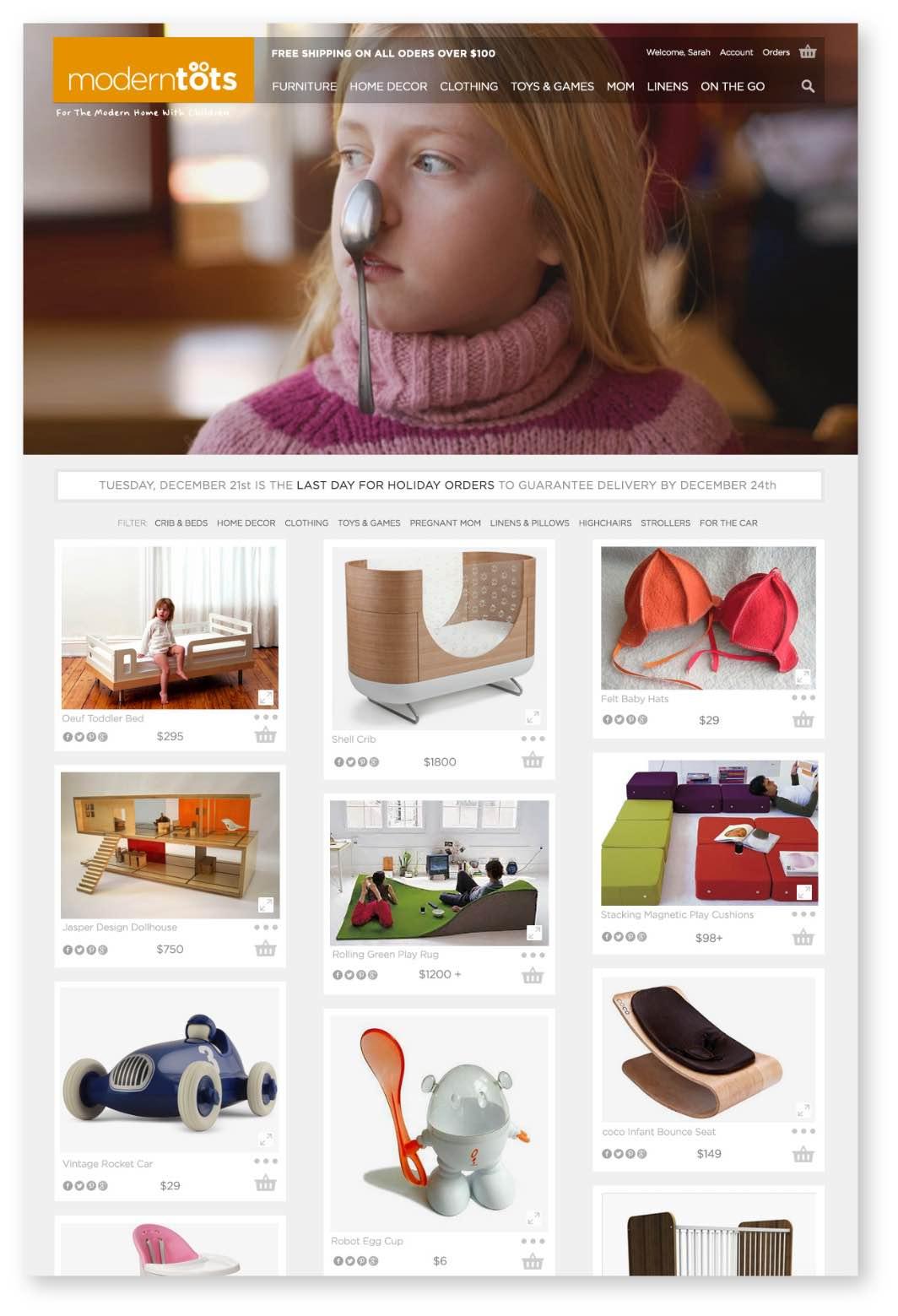 ModernTots e-commerce