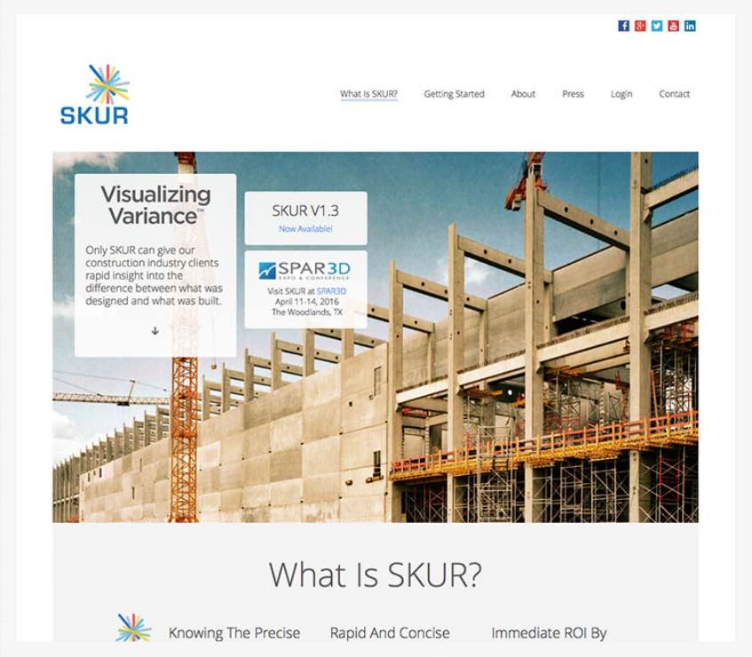 Skur web and product interface design