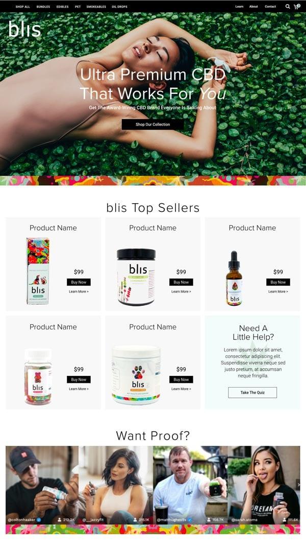 blis cbd products