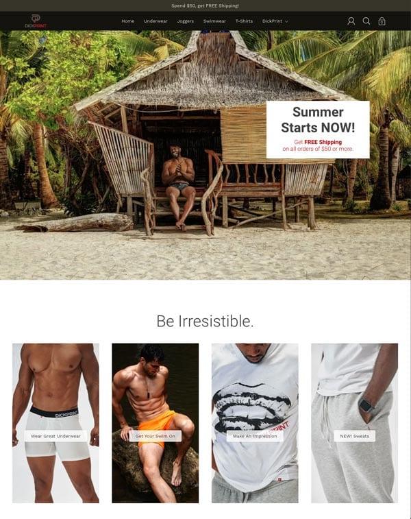 DickPrint Summer 2021 homepage design